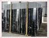 Polishing big slab black marble, China Portoro Marble, Natural Black Marble Price Silver Dragon, china black marble