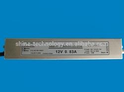 12VDC 10W slim led power supply led switching power supply IP67