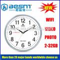 hotsale عرض الدعم المتحرك نظام الأمن واي فاي كاميرات خفية ساعة الحائط( bs-- 796)