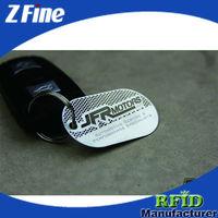2-hole metal tag / metal purse tags ZF