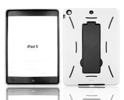 Heavy duty robot design kickstand case for iPad Air