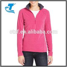Ladies Soft Quarter-Zip Fleece Pullover