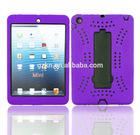 Brand new rugged silicone heavy duty folding kickstand case for iPad Mini