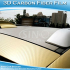 SINO CAR STICKER 1.52x30M 5x98FT Weather proof Black 3D Film Firber air intake pipe