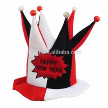 Divertido partido loco feliz año nuevo sombrero de bufón mh-1897