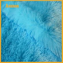 polyester brush long pile pv plush fabric for garment