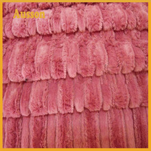 100% polyester pv plush fabric fake fur for home textile