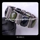 Colorful Resin Blank Cuff Bracelet Wholesale Based On Metal
