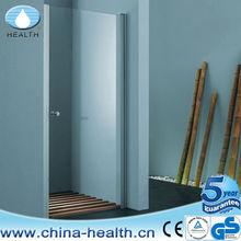 Bathroom Pivot folding single shower door,straight shower partition screen