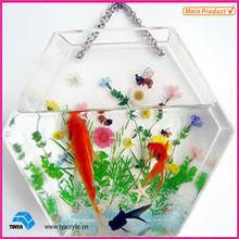 Hot Sale Acrylic Fish Bowl wall mount Fish Bowl wall hanging fish bowl