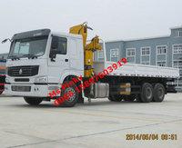HOWO 8T Lifting Truck Crane with Dump Cargo XMCG Crane Truck For Sales