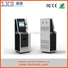 LKS self service kiosk bank atm with cash acceptor