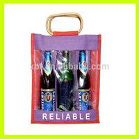 Jute/ Burlap 4 Bottle Wine Holiday Gift Christmas Bags