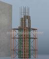Circular de concreto de cofragem sistema, formas circulares, rodada circular cofragem de coluna