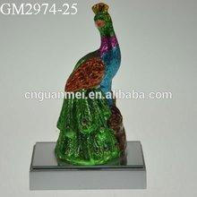 Fair Glass Art Souvenir/ Glass Antique Peacock Figurines