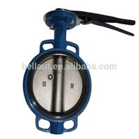 wafer type worm gear/worm gear drive/worm gear operated butterfly valve