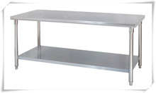 1.5M Stainless Steel 2-Tier Work Table