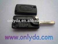 car key housing wholesale peugeot flip remote key blank without battery place