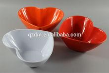 Solid Color Melamine Heart Shaped Bowl Set