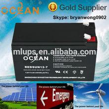 China Manufacturing 12V 7Ah Sealed Lead Acid Battery for UPS Solar Communication Medical System