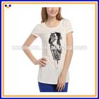 Top fashion Korea style short-sleeve t-shirt / sequin design women t-shirt