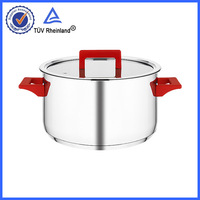 18/10 stainless with glass aluminium bottom earthenware cooking pots