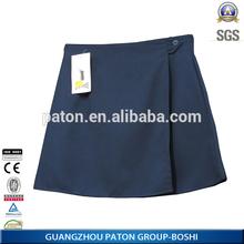65%polyester 35% cotton school uniform girl's pleated skirt