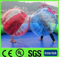 Hot sale inflatable zorb football / inflatable bubble football bumper ball