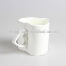 China manufacturer direct cheap plain white heart mug