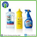 A prueba de agua extraíble de plaguicidas etiquetas de las botellas, la costumbre de impresión adhesivo las etiquetas de los plaguicidas