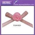 rosa de color rosa de satén de nylon de flores para la ropa interior