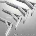 Oem de la pared de auto galavnized i / c / y / h / u estructurado de acero / latón / de aluminio del metal de hardware de pared de acero inoxidable soporte de pasamanos