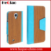 high quality wooden pattern leather cover case for iphone 5