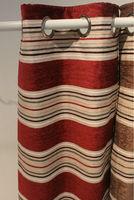 Stripe chenille double layer window curtain