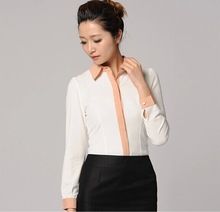 new short sleeves office lady new models blouses fashion