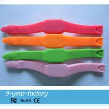 Popoular style silicone bracelet watch usb
