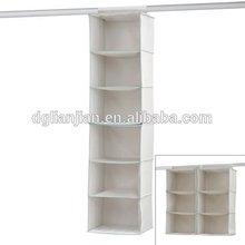 Shelf Organizer/canvas hanging closet shelf organizer/clothes storage shelf organizer