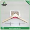 whoelsale wooden metal clips pants hanger