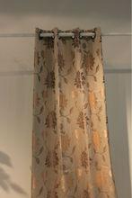 Yellow Jacquard fancy window curtain