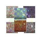 Colorful crystal rhinestone trim mesh garment accessories