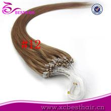 5A Oriental Fashion human hair pre-bonded virgin remy hair ombre micro ring loop hair extensions