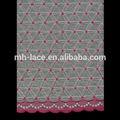 venta al por mayor de voile suizo africano del bordado de tela de encaje
