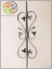 popular good quality wrought iron balusters, wrought iron bars, wrought iron knots