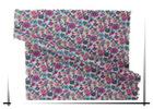 Reactive printed cotton poplin with colorful flower fabric