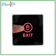 Touch Switch Exit Button Access control switch Touch Button 86MM blue back light electric box cassette