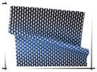 Reactive printed cotton poplin with purple stripe flower fabric