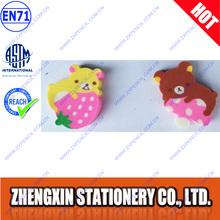 Fancy cartoon animal rubber eraser/Bear shape eraser