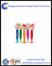 Colorful Hair Smiling face Bobble Head Promotion Pen