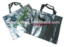 Custom Laminated Full-Color Silver Metallic tote Bag