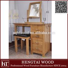 bedroom furniture- solid oak wood natural make up table in wood